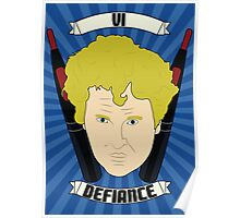 Doctor Who Portraits - Sixth Doctor - Defiance Poster
