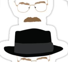 Walter White / Heisenberg (The Many Faces) - Breaking Bad Sticker