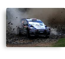 Mads Ostberg - World Rally Championship Australia - Sunday 2013 Canvas Print