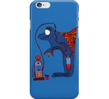 Dolphin, blue, sea, gas, station, comic, kids, love, ocean iPhone Case/Skin