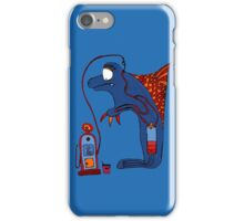 Dolphin, blue, sea, gas, station, comic, kids, love, ocean iPhone Case/Skin