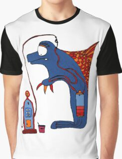 Dolphin, blue, sea, gas, station, comic, kids, love, ocean Graphic T-Shirt