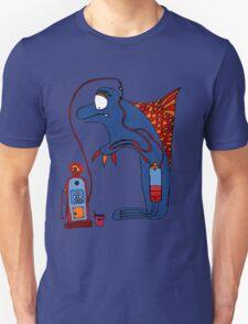 Dolphin, blue, sea, gas, station, comic, kids, love, ocean T-Shirt