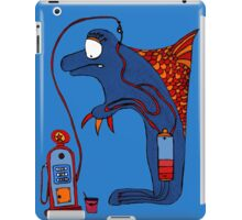 Dolphin, blue, sea, gas, station, comic, kids, love, ocean iPad Case/Skin