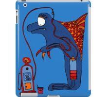 Dolphin, blue, sea, gas, station, comic, kids, love, ocean iPad Case/Skin
