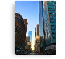 Green Lights in the D Canvas Print
