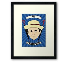 Doctor Who Portraits - Seventh Doctor - Champion Framed Print