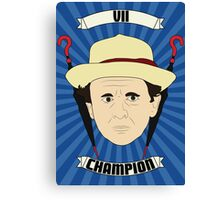 Doctor Who Portraits - Seventh Doctor - Champion Canvas Print