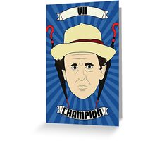 Doctor Who Portraits - Seventh Doctor - Champion Greeting Card