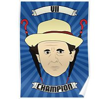 Doctor Who Portraits - Seventh Doctor - Champion Poster