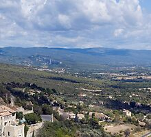 Panoramic of Gordes and the Luberon by Jim Hellier