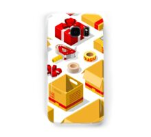 Packaging Objects Isometric Samsung Galaxy Case/Skin