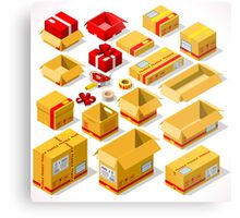 Packaging Objects Isometric Metal Print