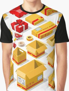 Packaging Objects Isometric Graphic T-Shirt