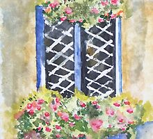 Window with flowers by ISABEL ALFARROBINHA