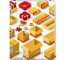 Packaging Objects Isometric iPad Case/Skin
