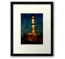 Lighthouse in Chania Framed Print