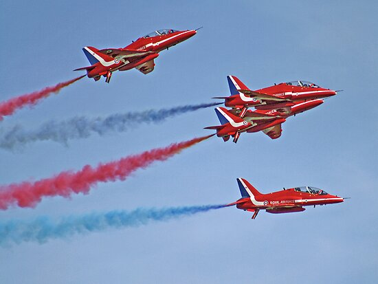 The Red Arrows - Duxford Spring Airshow 2013 by Colin J Williams Photography