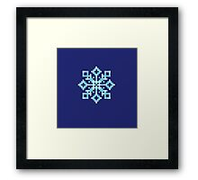 Pixel Snowflake Framed Print