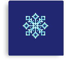 Pixel Snowflake Canvas Print
