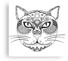 Patterned Cat Canvas Print