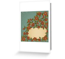 Vintage card with flowers.  Greeting Card