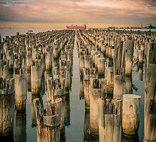 Sunrise at Princes Pier, Port Melbourne by Julie Begg