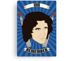 Doctor Who Portraits - Eighth Doctor - Remember Canvas Print