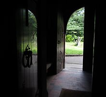 DOORWAY OF ST BRIDGETS PARISH CHURCH by gothgirl
