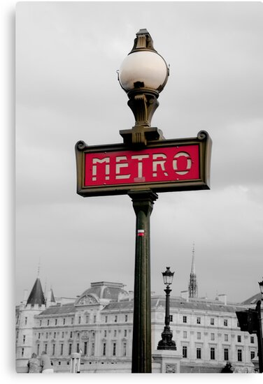 Paris Metro Selective Colour by Helen Barnett