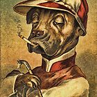 Greeting card - Vintage Dogs 1 by © Kira Bodensted