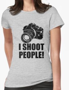 I Shoot Photographer Womens Fitted T-Shirt