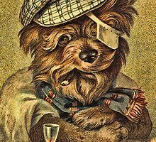 Greeting card - Vintage Dogs 4 by © Kira Bodensted