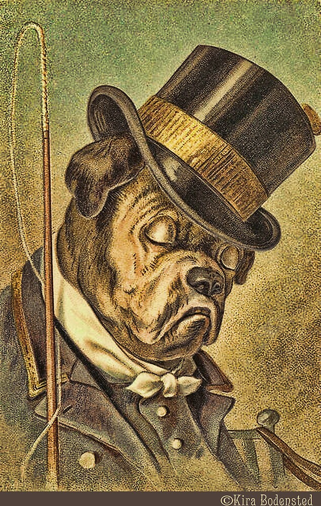 Greeting card - Vintage Dogs 5 by © Kira Bodensted