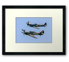 BBMF Hurricane IIc LF363 and Spitfire LF.XVIe TE311 Framed Print