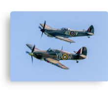 BBMF Hurricane IIc LF363 and Spitfire LF.XVIe TE311 Canvas Print