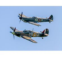 BBMF Hurricane IIc LF363 and Spitfire LF.XVIe TE311 Photographic Print