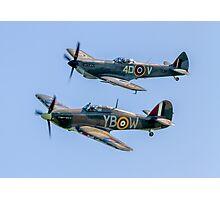 BBMF Hurricane IIc LF363 and Spitfire LF.XVIe TE311 Photographic Print