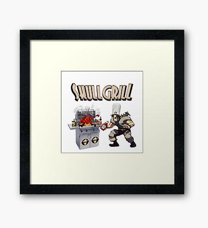 SkullGrill - Skull Girls parody !! Framed Print
