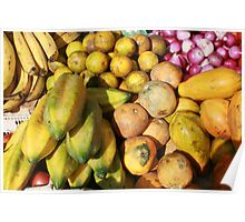 Bananas Melons and Onions Poster