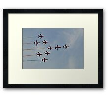 The Red Arrows (Concorde) Framed Print