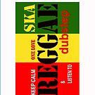 ' Keep Calm & listen to Reggae ' iPhone / iPod Case / White by Love Through The Lens