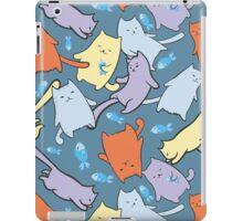 funny cartoon cats  iPad Case/Skin