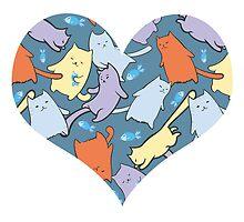 funny cartoon cats  by -ashetana-
