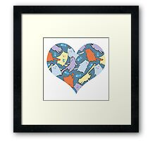 funny cartoon cats  Framed Print