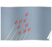 The Red Arrows ( Gripen Formation ) Poster