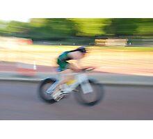 Cyclist rides at World Triathlon Final London 2013 Photographic Print