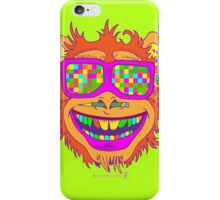 A funny monkey face colored glasses.  iPhone Case/Skin