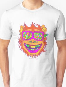 A funny monkey face colored glasses.  Unisex T-Shirt