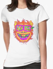 A funny monkey face colored glasses.  T-Shirt